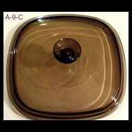 Corning Pyrex Glass Replacement Lid A9C Brown
