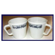 Pyrex Old Town Blue Onion Mugs ~ Set of 2