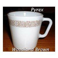 Pyrex Woodland Brown Mugs ~ Set of 2