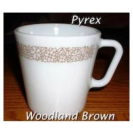 Pyrex Woodland Brown Mugs ~ Set of 2
