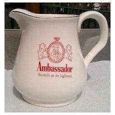 Ambassador Scotch Whiskey Water Pitcher / Jug