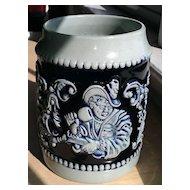 Cobalt Blue Salt Glaze German Beer Stein