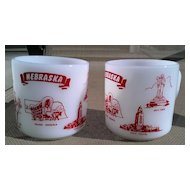 Nebraska State Federal Glass Mug Set