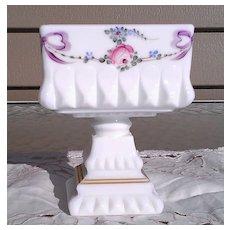 Westmoreland Milk Glass Medium Wedding Bowl with Roses & Bows