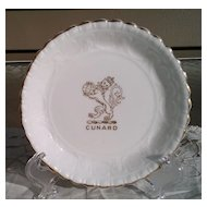 Cunard Lines Advertising Coaster Ashtray by Coalport