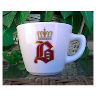 """Vintage Jackson China Coffee Cup Old English """"B"""" with Crown"""