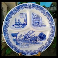 Iroquois China Ye Old Inn Grill Plate ~ Set of 2