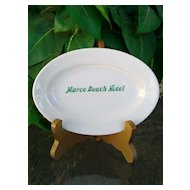 Vintage Marco Island Hotel Restaurantware Platter by Mayer China