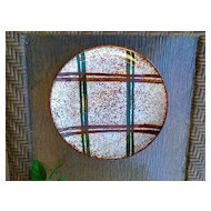"Blue Ridge Southern Potteries Rustic Plaid Dinner Plate 9 5/8"""
