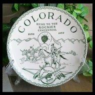 Colorado Rush to the Rockies Centennial Commemorative Plate