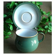 Denby/Langley Regency Green Cup & Saucer Set