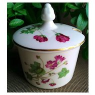 Minton Fine Bone China Jam/Jelly with Lid Meadow Pattern