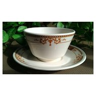 Syracuse China Bouillon Cup & Saucer Set Webster Pattern