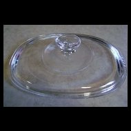 Corning Pyrex Clear Glass Oval Replacement Lid F-12-C