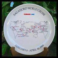 Sagafjord 1989 World Cruise Rosenthal Commemorative Plate
