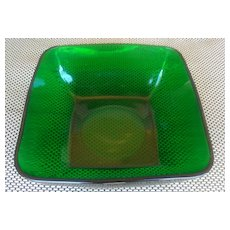 Anchor Hocking Fire King Forest Green Charm Salad Bowl