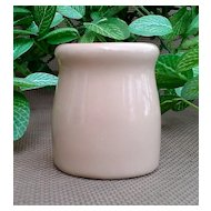 1920's to 1940's Shenango Oven Ware Tan Creamer Mini Milk Bottle