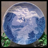 Johnson Brothers Mount Rushmore Plate Blue