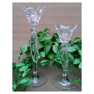 Lenox Crystal Opal Innocence Single Light Candlestick Set of Two