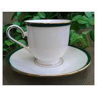 Lenox China Margaret Footed Cup & Saucer Set
