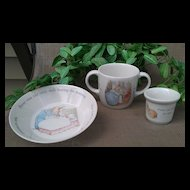 Wedgwood Peter Rabbit 3 Piece Set