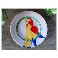 Fitz & Floyd Parrot-in-Ring Salad Plate Set 1979