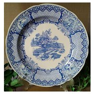 """Spode Blue Room Collection Seasons """"June"""" Plate"""