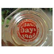 """Indiana Glass Company """"Glass Days 1984"""" Ashtray"""
