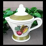 Metlox Poppytrail Provincial Fruit Creamer with Lid