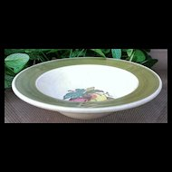 Metlox Poppytrail Provincial  Fruit Dessert Bowl Set Green Border