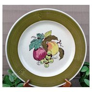 Metlox Poppytrail Provincial  Fruit Dinner Plate  Green Border
