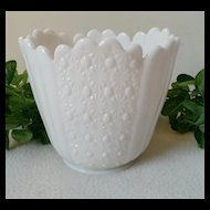 Fenton Daisy & Button Early Large Milk Glass Vase