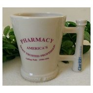 "Schering Claritin Mug ""Pharmacy - Most Trusted Profession"" Commemorative by McCoy"