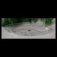 Heisey Glass Waverly Celery Dish / Vase