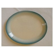 "Franciscan China Country Craft Blue Skies 14"" Oval Serving Platter"