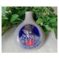 Gebrüder Bernard Snuff Bottle Schmalzlerfranzl Multi-Colored Salt Glazed Pottery