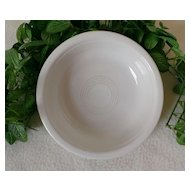 Homer Laughlin Fiesta Ware White Coupe / Soup Bowl