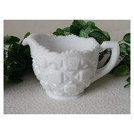 Westmoreland Old Quilt  12 oz. Milk Glass Creamer