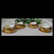 Metlox Vernon Kilns Vernonware Homespun Cup & Saucer