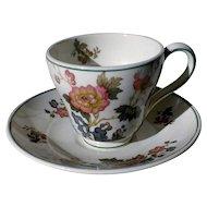 Wedgwood Eastern Flowers Demitasse Cup & Saucer Pattern TKD426