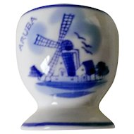 Delft Blue Hand Painted Aruba Egg Cup