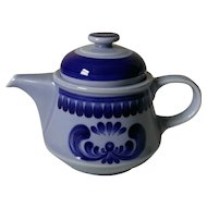 Kahla China GDR Blue Majolica Coffee Pot