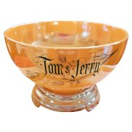 Fire King Tom & Jerry Peach Luster Set of 8 Mugs (for the Punch Bowl set)