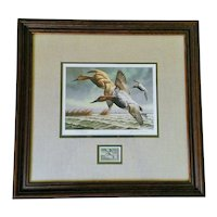 David A. Maass 1982 Migratory Bird Hunting & Conservation Signed, Framed Print & Stamp