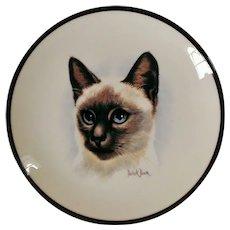 Coalport Siamese Cat Decorative Plate by Derick Brown