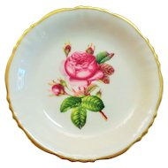 Syracuse China Rosalie Pattern Pin Dish with Gold Trim