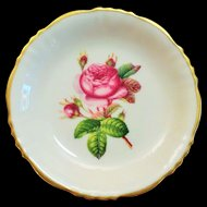 Syracuse China Rosalie Pattern Pin Dish with Gold Trim