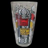 Hazel Atlas Moulin Rouge Paris Mixer Recipe Glass