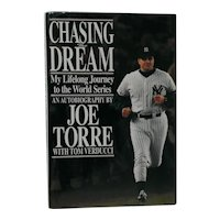 Joe Torre Signed First Edition Book - Chasing the Dream