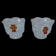 Anna Hutte Bleikristall Lead Crystal Votive Candle Holder Set